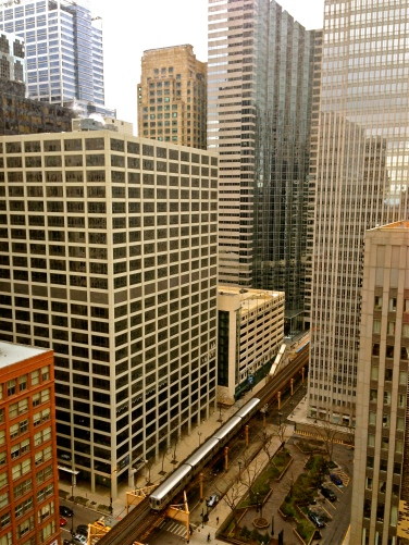 view from w chicago city center