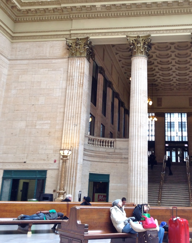 asleep in union station