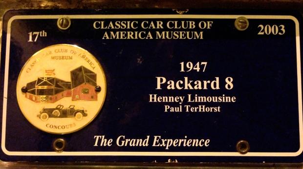 1947 henney limousine packard 8 plate
