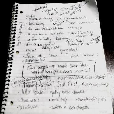 writer notes