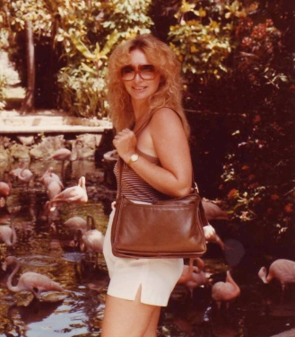 mom and the flamingos