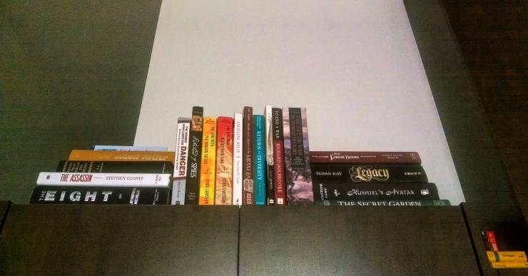 books above fridge