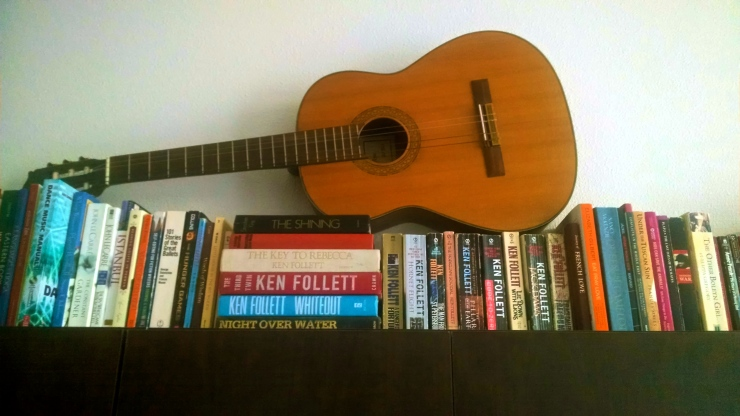 ken follett books with guitar