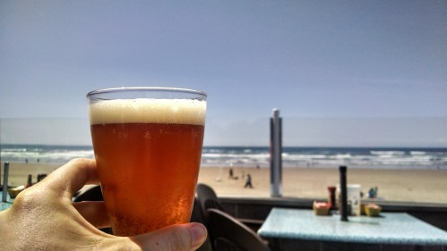 Beer at Mo's Cannon Beach