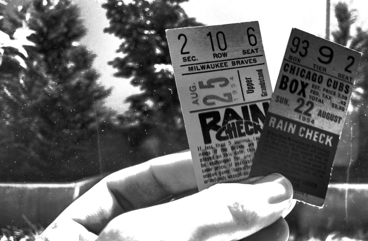 baseball tickets 1954