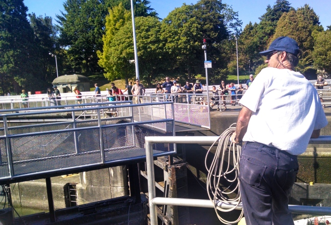 Ballard Locks bridge opening