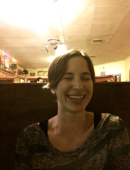 laughing in the diner