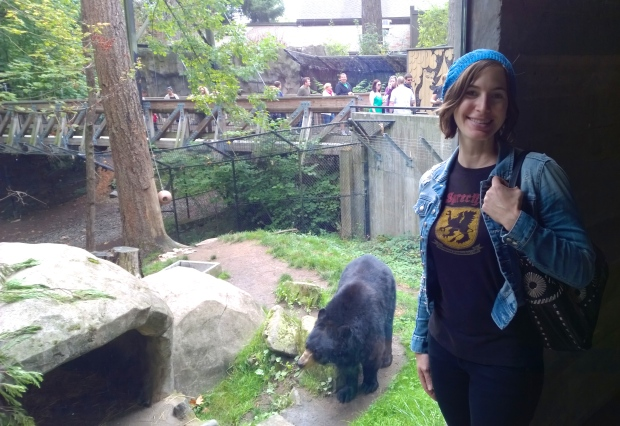The bear and I had matching outfits.