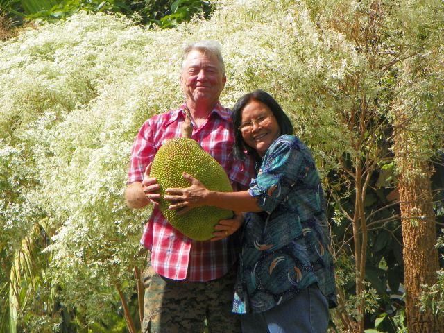 Dannie, Julee and a Jackfruit