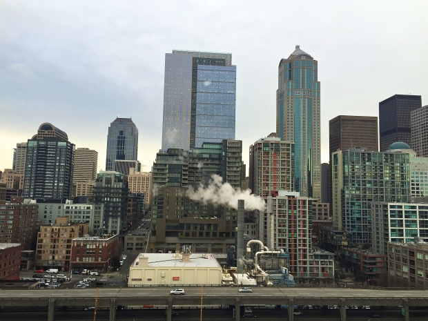 seattle from ferris wheel