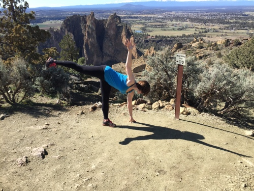 half moon pose smith rock