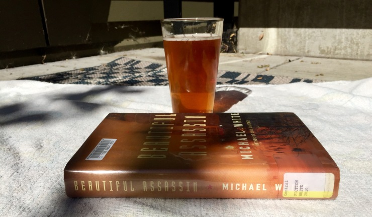 reading with beer