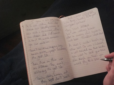 writing blog on paper