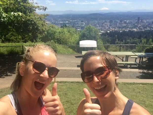 hiking to pittock mansion