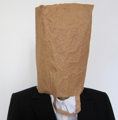 paper bag over head