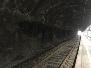 cinque terre train tunnel