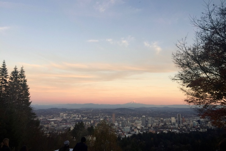pittock mansion sunset