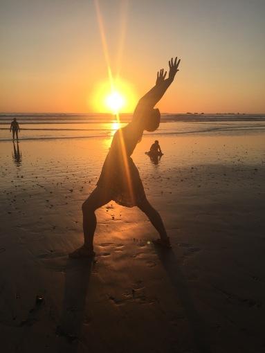 sunset beach warrior