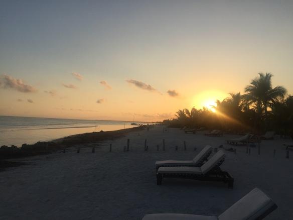 sunrise on holbox