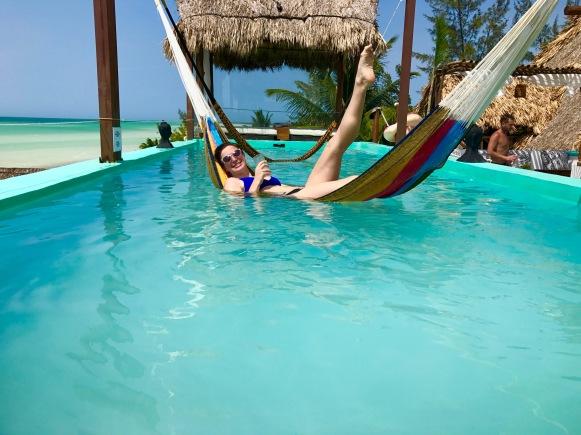 hammock in the pool