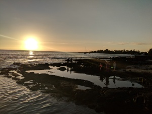 sunset in kona