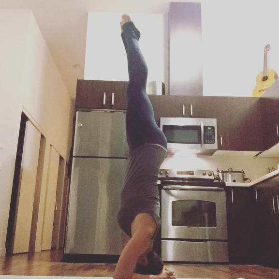 kitchen headstand