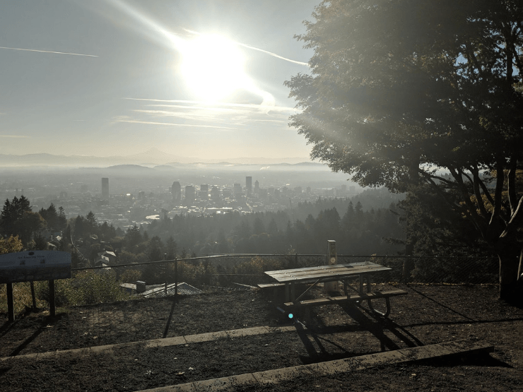 pittock mansion sunrise