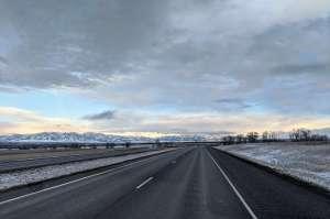 bozeman snow on the road