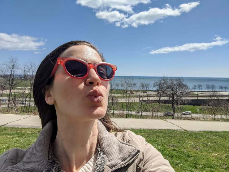 lake michigan selfie milwaukee