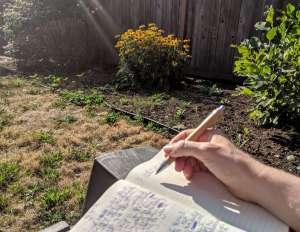 journal writing outside