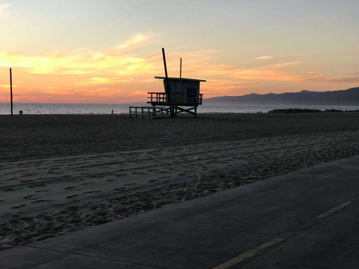 sunset california beach